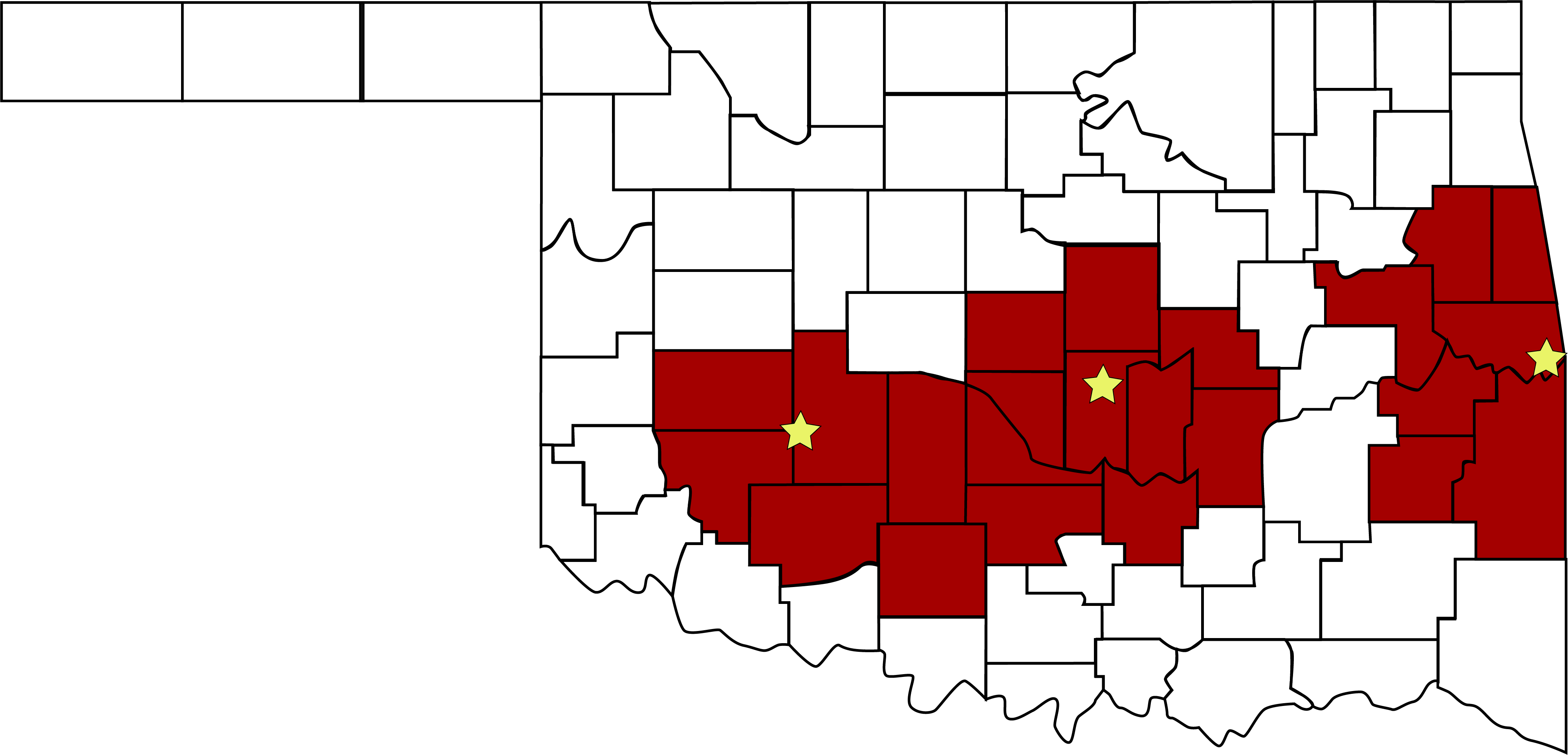 Coverage Area by County