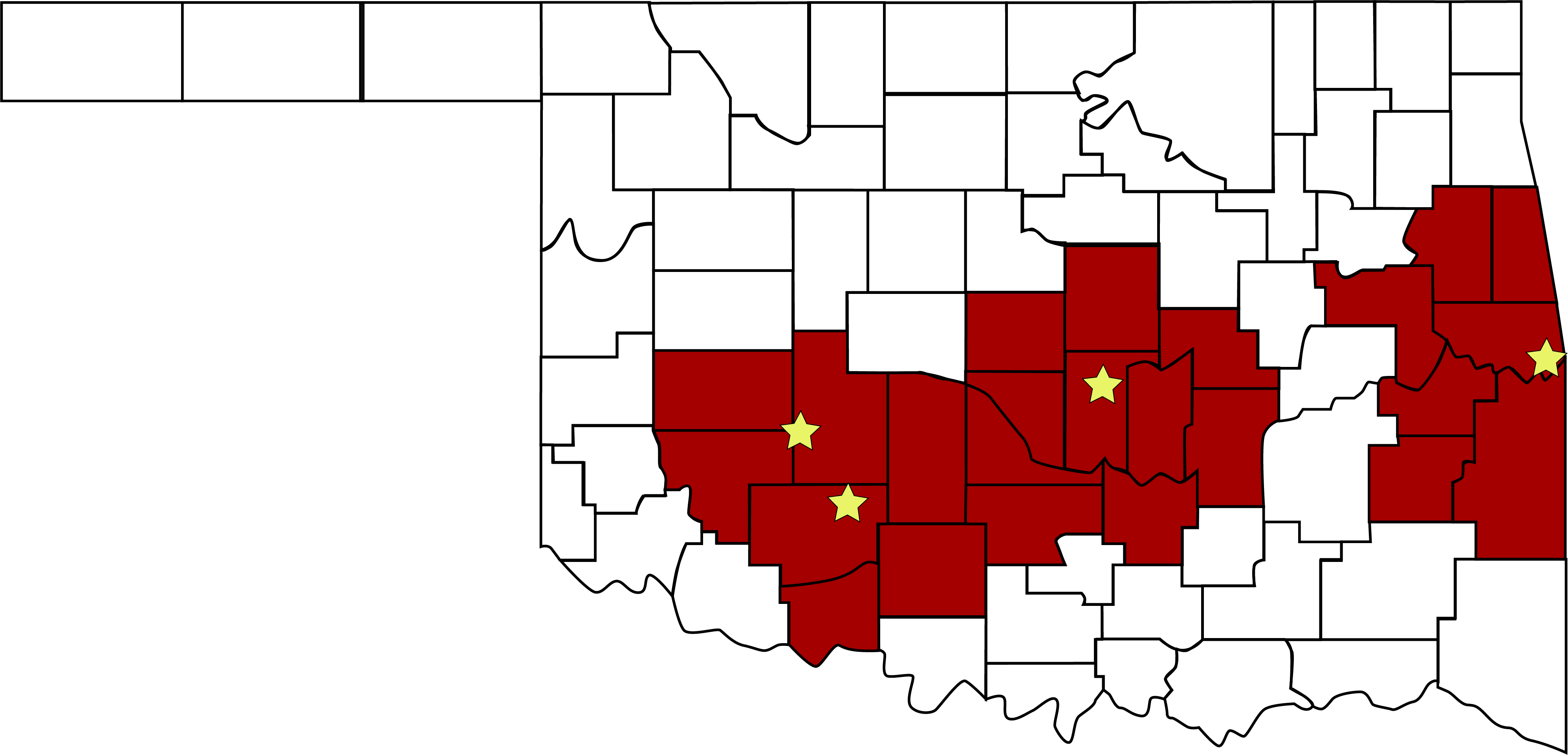 Coverage Area by County v2